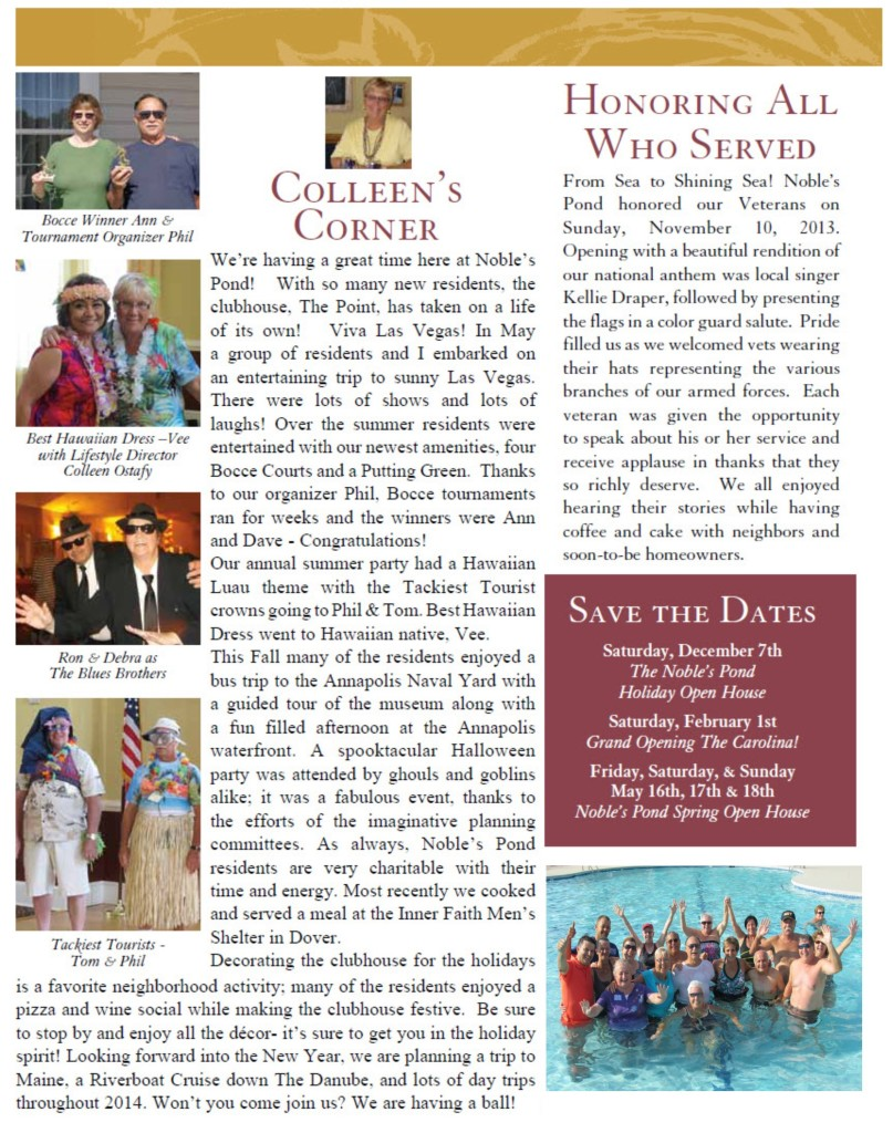 Page 2 holiday newsletter 2