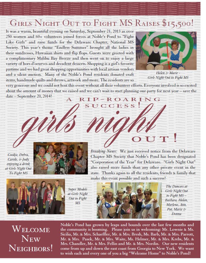 Update- Girls Night Raises $15,500