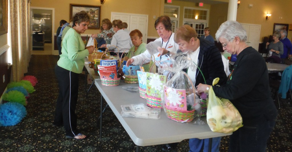 Charity Easter basket volunteers