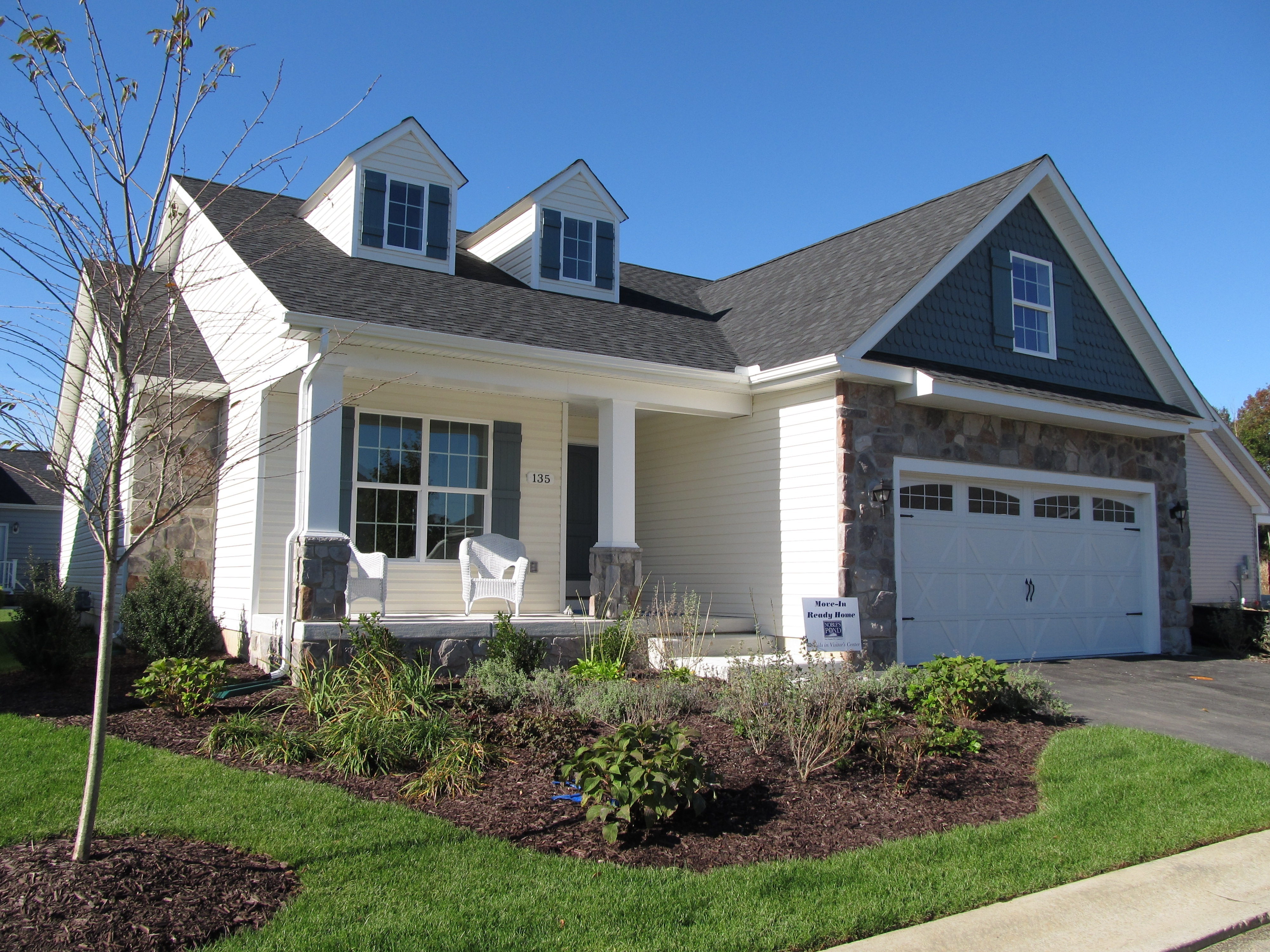 Affordable customizable homes for active adults in Delaware's Noble's Pond community.